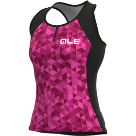 Alé Cycling Solid Triangles Tank Top Women, fluo pink/violet